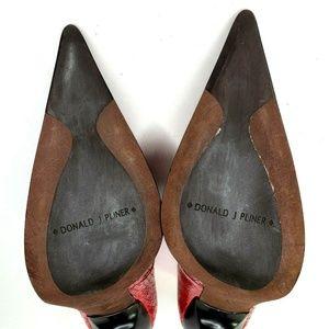 Donald J. Pliner Shoes - Donald J Pliner Heels Faux Snakeskin Ombre Sz 6.5